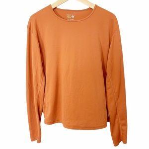 Mountain Hardwear Women's Orange Long Sleeve Tee